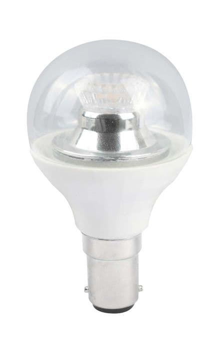 BELL 05158 4W LED 45mm Dimmable Round Ball Clear SBC 4000K